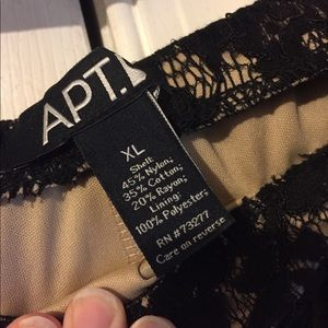 Apt. 9 Skirts - Pencil Tan Skirt with Black Lace
